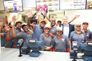 Burger King staff at a new branch in Cape Town